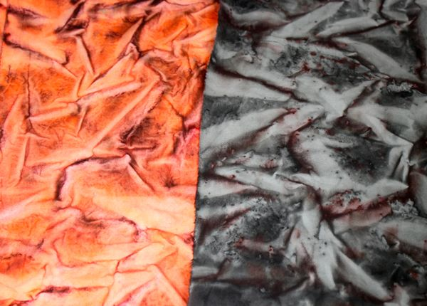 scrunched sun printed fabric