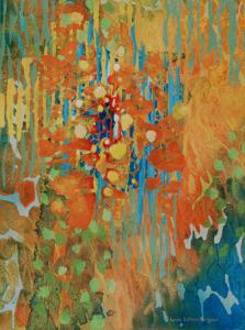 """Floral Fantasy - 14 x 10"""" Watermedia by Lynda Hoffman-Snodgrass"""