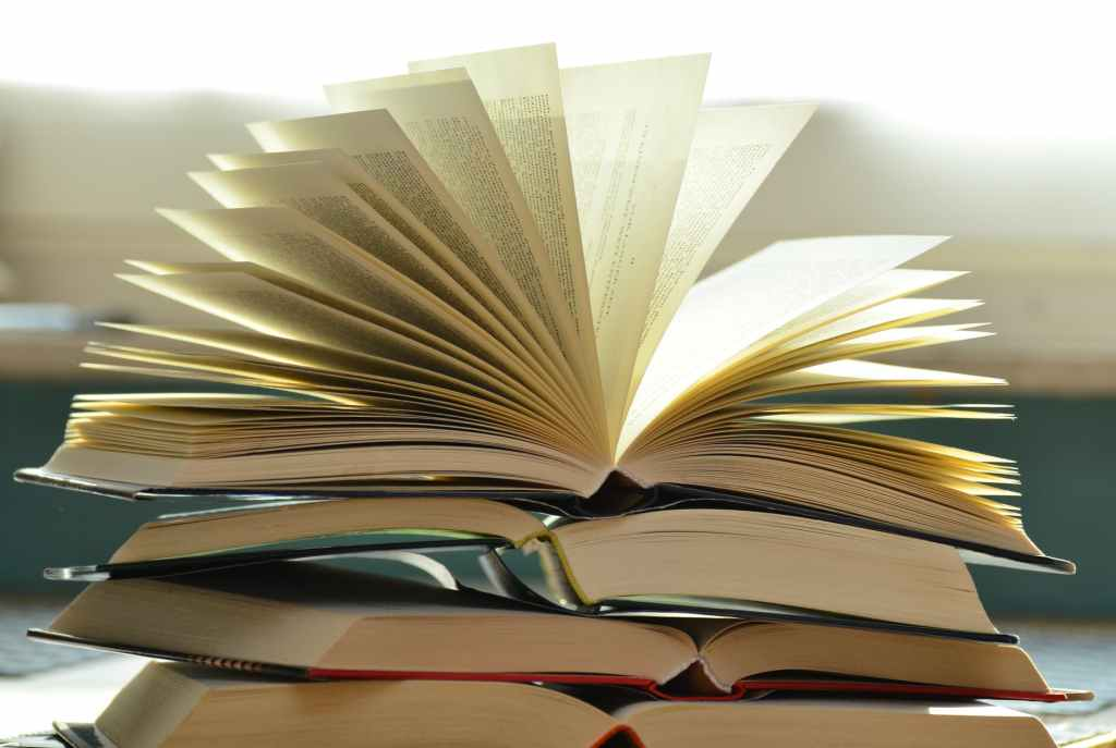 Riffling pages of a book