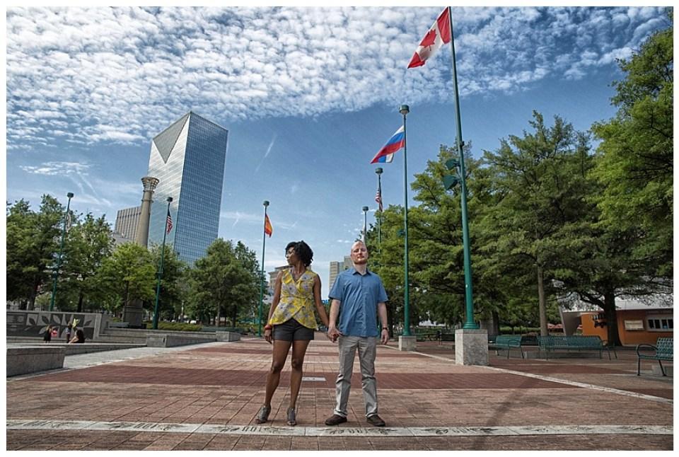 Centennial Olympic Park Couple Shoot