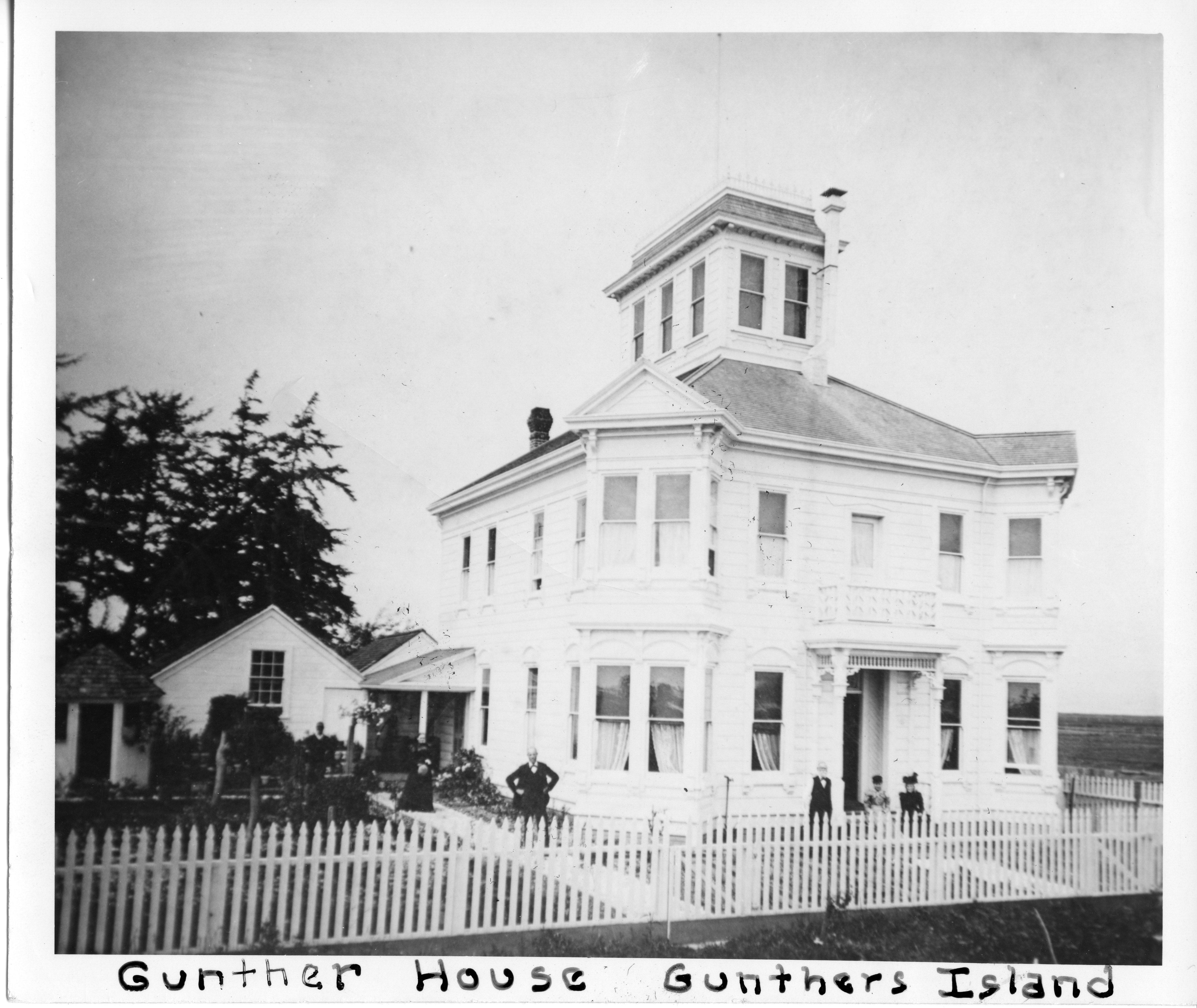 Gunther's mansion on Indian Island: HSU Photo Archives