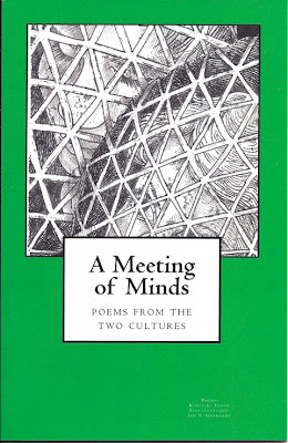 Image of cover of A Meeting of the  Minds: the Alchemy of Science, art, and Poetry, lynettemburrows.com by Karin L Frank, A Meeting of the  Minds: the Alchemy of Science, art, and Poetry, lynettemburrows.com