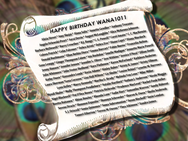 Happy Birthday WANA 1011 scroll