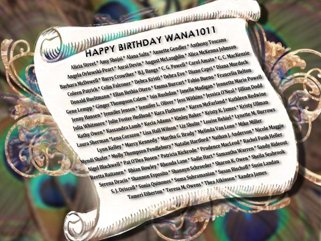 Happy Birthday WANA 1011 scroll
