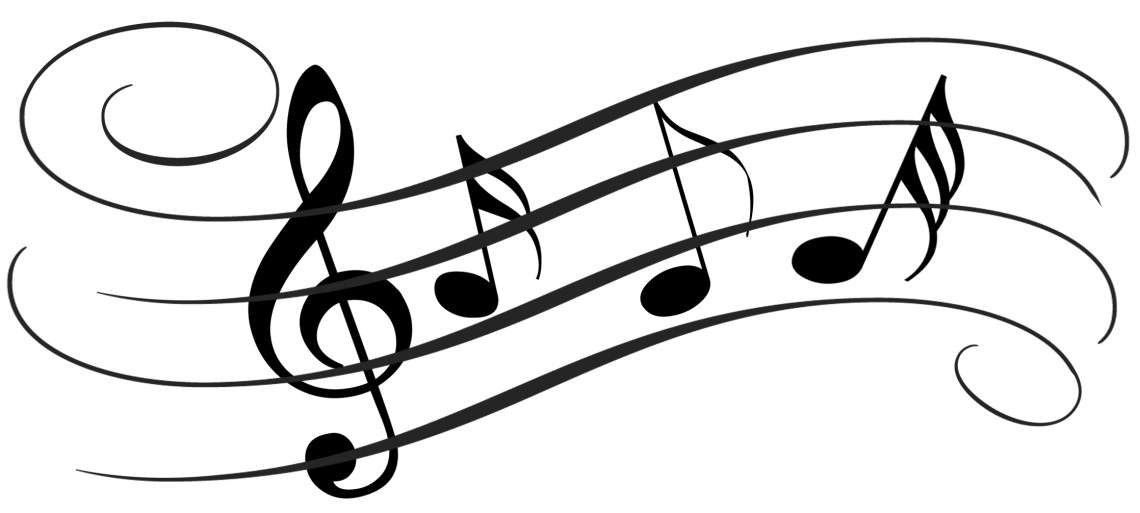 Treble cleft and notes, Music is one of 13 things for which I am thankful