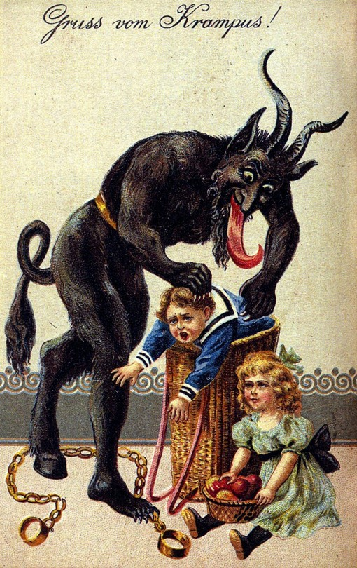 celebrating and remembering in December, Krampusnacht, lynettemburrows.com