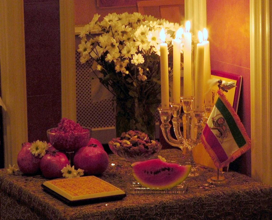 Celebrations in December, Shab-e Yalda, Lynette M Burrows