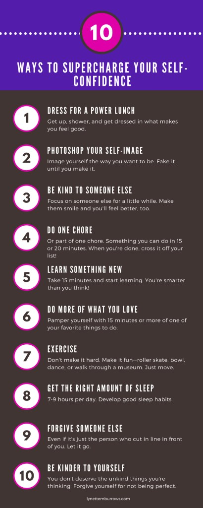 10 Ways to supercharge your self-confidence @ lynettemburrows.com