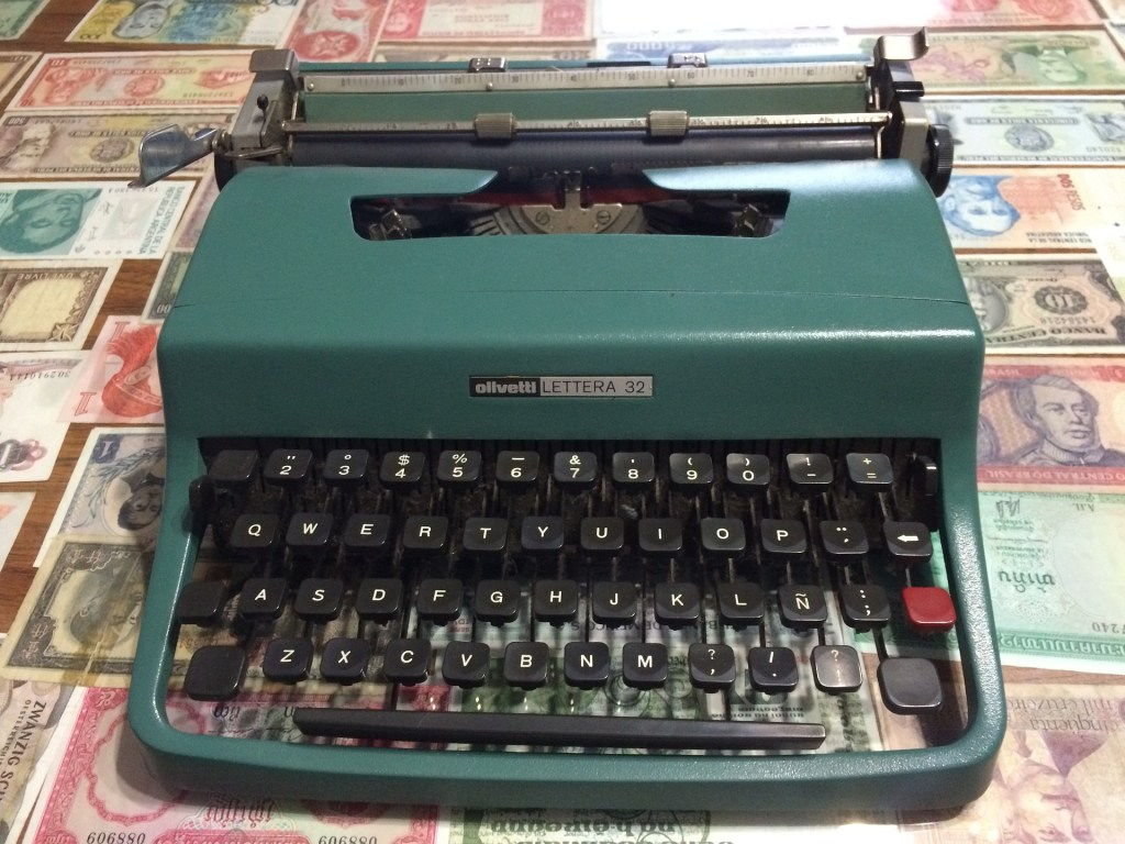 This is much like my first typewriter. On it I learned that writing is easy--until it's hard.