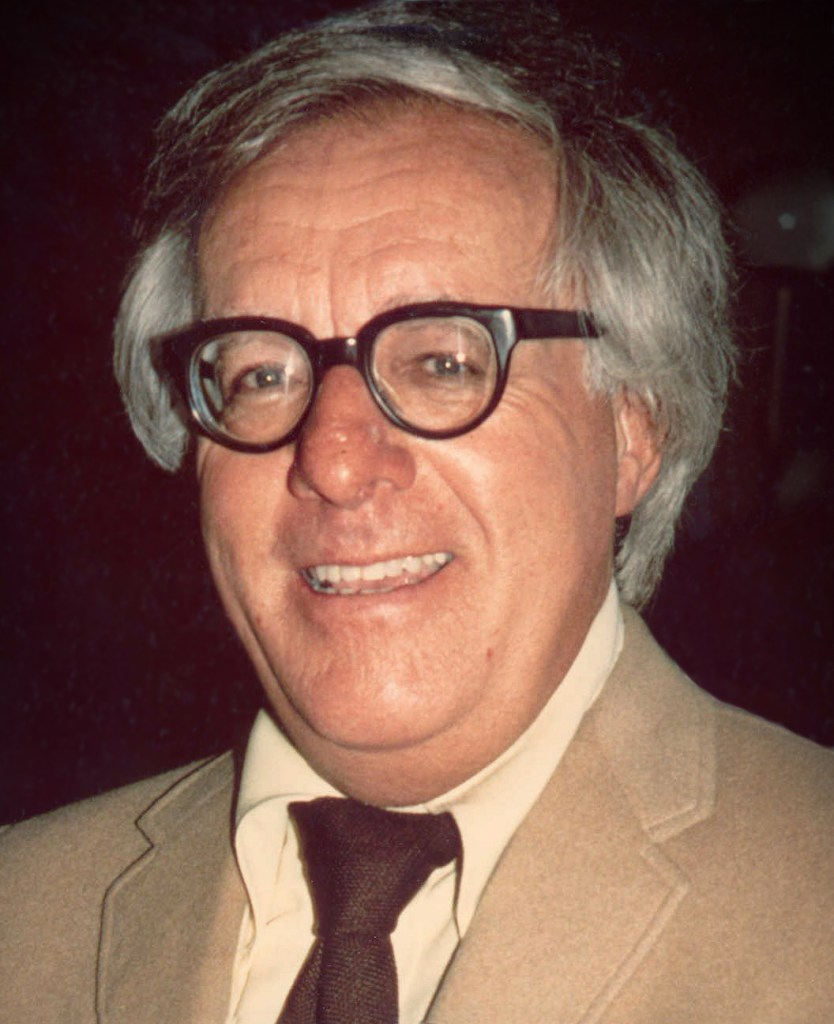 Headshot of Ray Bradbury.