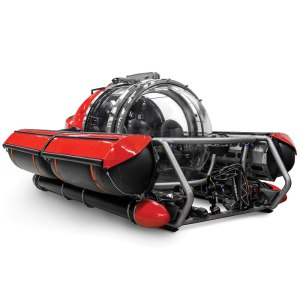 Image of a red, fiver person exploration submarine--another virtual reward so I can celebrate and win every day.