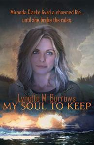 Image of book cover for My Soul to Keep by Lynette M. Burrows one of the prizes in my one year anniversary and giveaway celebration.