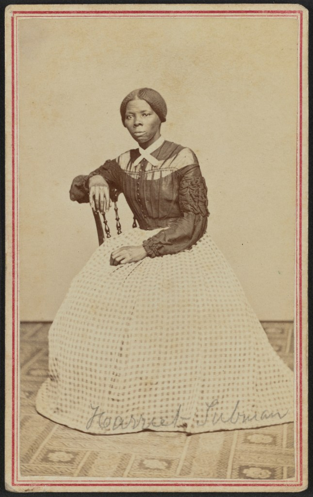 image of Harriet Tubman, whom we learn in character reveal: Miranda Clarke's is Miranda's role model