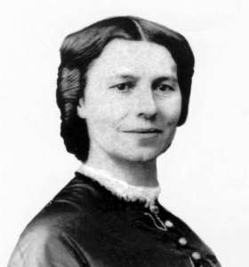 Image of Clara Barton claimed as role model for Leslie Hobart in the character reveal: Leslie