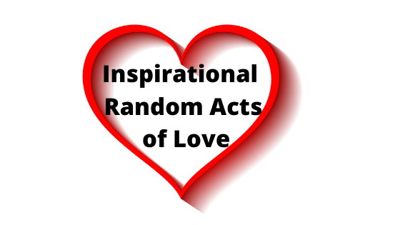 Image of a red heart outline with the words Inspirational Random Acts of Love inside the heart.