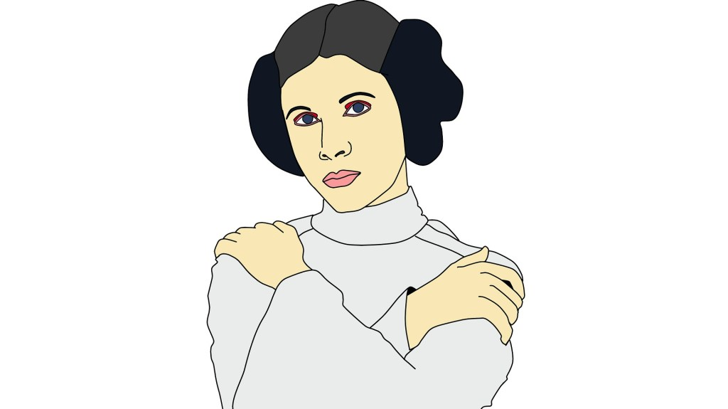 A color sketch of Princess Leia, May the Fourth be with you