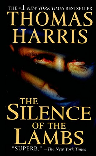 image of the cover of The Silence of the lambs--shadows form slanted bars across hannibal's face. another example of A Strong Midpoint Powers Your Novel