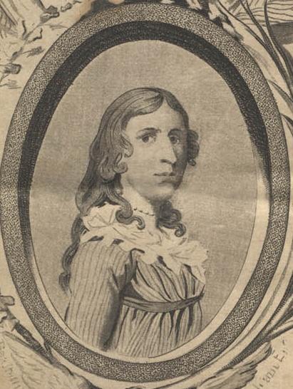Photo of an engraving of Deborah Sampson