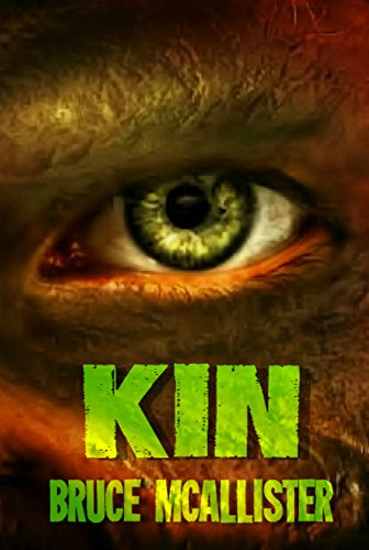The Amazon cover is a close up of an alien eye. It is the cover for the story Kin by Bruce McAllister.