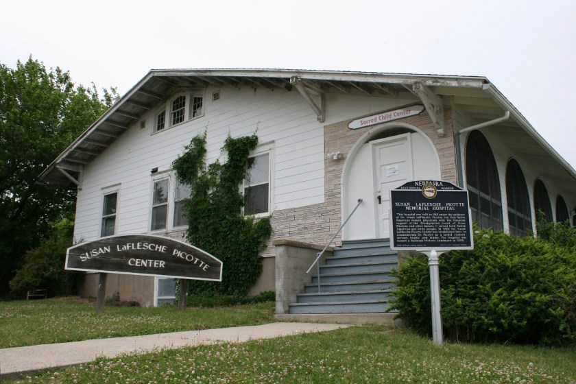 Image of the Susan LaFlesche Picotte Center Museum in Nebraska, site of the hospital the amazing first Native American Woman Doctor opened