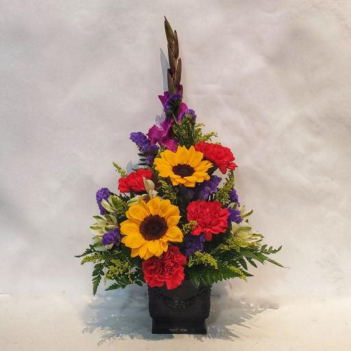 image of colorful flower arrangement