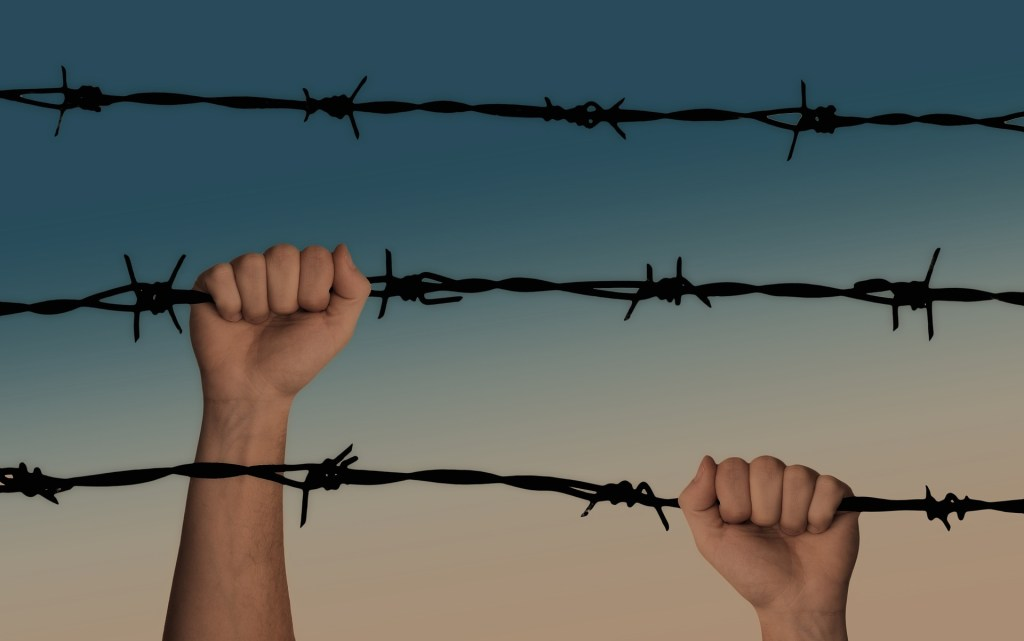 Without a sequel your readers won't care is demonstrated by this photograph of hands gripping barbed wire, an apt analogy for the dilemma portion of the sequel. .