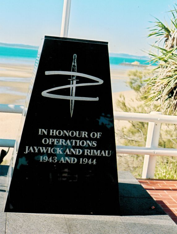 The Zorro-style insignia on a memorial at Hervey Bay, Queensland