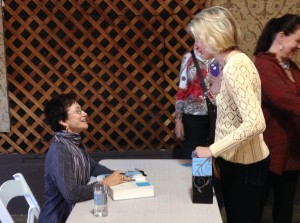 Meeting Elizabeth George, at the McIntyre's visit for the release of Just One Evil Act.