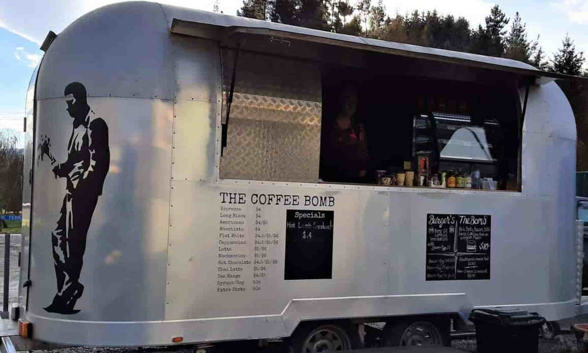 The Coffee Bomb Food Trailer in Garston Village