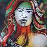 Modern Painting of a Maori woman