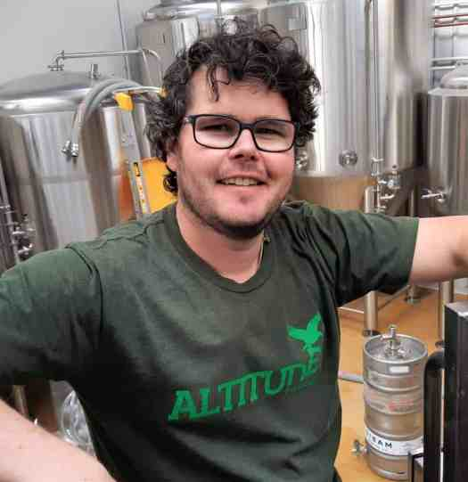 Eliott Menzies in the Altitude Brewing Brewery