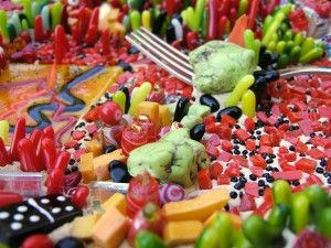 detail 1 of Frilly Food with Seeds