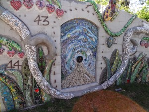 panel two mosaic marathon SAMA 2014 installed in Smither Park in Houston, Texas