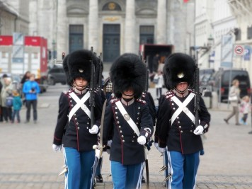 changing guards in uniform