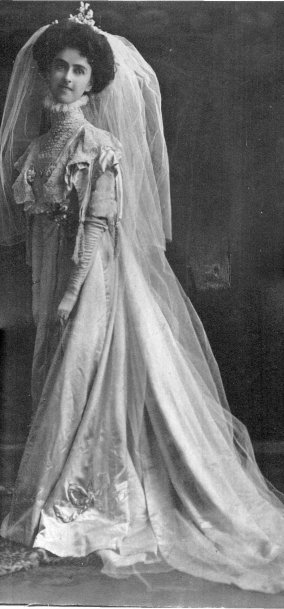My great grand aunt - Helen Douglass - this wedding gown is now in a museum in Dundas, Ontario.