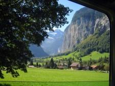 Lauterbrunnen from Jungfrau train