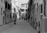 black and white Venice calle