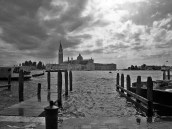 black and white across grand canal