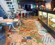 multicolored tiles floor hotel St Petersburg