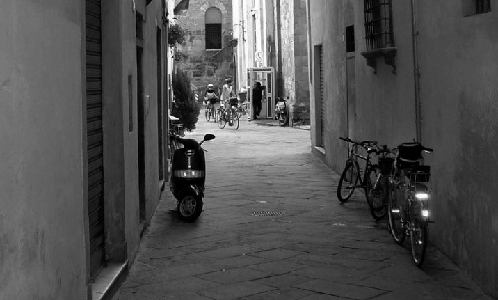 bicycle in Lucca, Italy