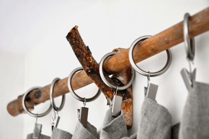 diy how to make a twig curtain rod