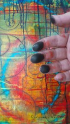 Charcoal fingers! © Lynne Medsker