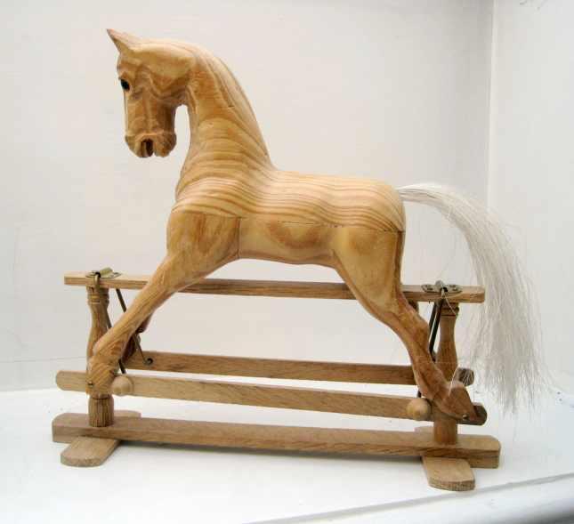 Diy How To Make Rocking Horse Hair Download Homemade Shelf