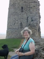 Jo and Jonah at Hadleigh Castle.