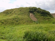 Fotheringhay Castle - the mound on which the keep was built.