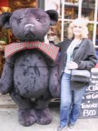 Giant teddy and me