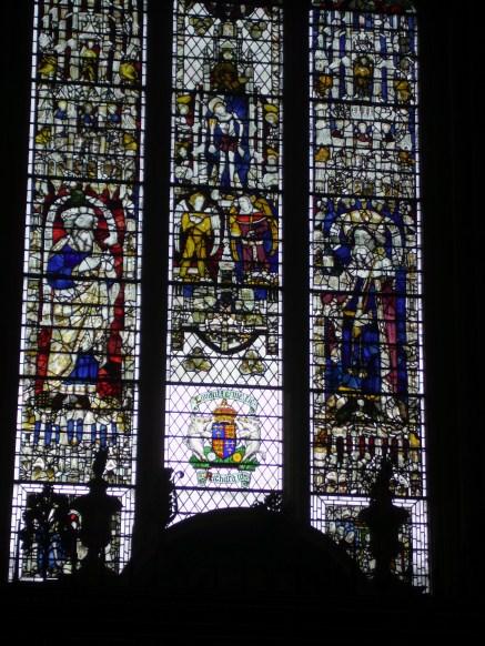 Richard III's coat of arms (bottom of centre panel)