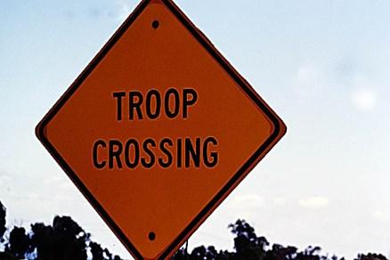 Troop Crossing Sign