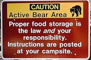 Caution, Active Bear Area Sign