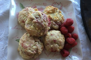 Raspberry White Chocolate Scones